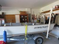 Starcraft V 16ft aluminium boat , recenly tune up 9.9