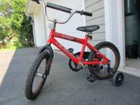 A good condition bycyle with 16 inch wheels. Good for