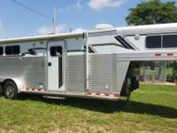 REDUCED...Very nice, C&C aluminum 3 horse with LQ. by