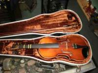 This is a very nice used German made violin in great