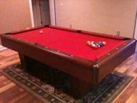 C.L. Bailey 7' Addison Pool Table with red felt.