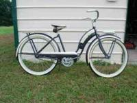 This bike screams 50s! Original charcoal and white with
