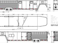 Brand new eight wide 4 horse stock combo. This is a