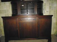 Ca. late 1800's european sideboard/buffet solid oak 1
