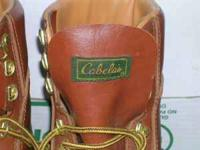 almost new Cabela's boots, for hunting or fishing or