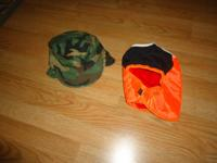 Mens size 13 rubber boots $5.00.  Camo Cap with