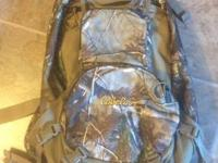 Realtree ap camo internal frame hunting backpack with