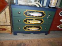 Hand painted  - dressers - desk and lamps.    Prices