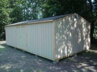 16x32 storage building built on site 3/4 plywood floor