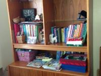 Combination cabinet with bookcase initially bought at