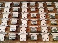 cabinet hinges 54 count with screws, see photos,send