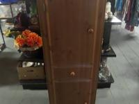 Nice Wood Cabinet ... ...$80.00.  Looks to be all