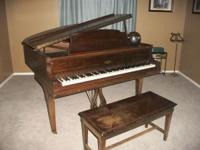 Baby Grand Piano, Cable-Nelson, with bench $3,500.00.