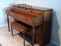 Piano is in nice condition for an older model. It comes