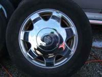 nice caddy rims and tires 25 to 30% tread was asking