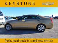 Feast your eyes on this gold 2013 Cadillac ATS 2.5L! It