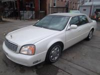 2003 CADILLAC DEVILLE WHITE WITH TAN LEATHER INTERIOR