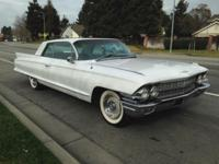 -1962 White Cadillac Coupe -Body is in great shape with
