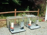 I have two wire cages for a dog or other pet or animal.