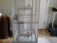 I have a really nice cage for a small parrot. Size is