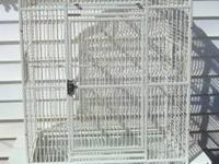 Victorian top white bird cage for sale. Suitable for 1