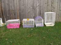 4 cages for sale. $5.00 each. Cleaning out the yard.