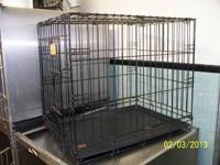 Several dog crates available like new. Most are black.