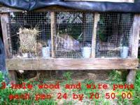 I have 2 nice rabbit cages for sale. I put the sizes