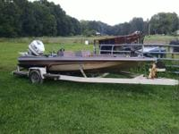 84 Cajun bass boat with 90 horse Johnson and trailer