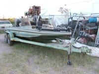 BOAT HAS 150 MERCURY OUTBOARD MOTOR, FORWARD ELECTRIC