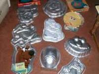 I have 12 cake pans for sale. All are in excellent