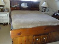Pottery Barn Ashby Sleigh Bed Amp Dresser Rustic Pine