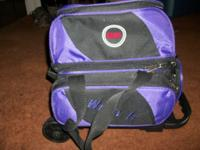 CAL Wheel-It Single Roller Purple/ Black 600 Denier