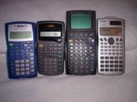 SELLING CALCULATORS, ALL IN EXCELLENT AND GOOD