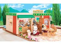 The Calico Critters Burger Cafe Playset includes