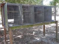 This outdoor breeding cage unit was used outdoors for