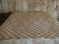 Very clean CA king bed, split box springs, frame,