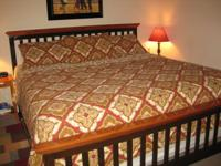 We have a california king bed for sale including