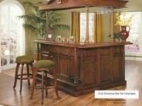California House Maple Canopy Bar.   Huge Floor Model