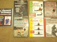 All the books are about exercising/working out. 1 book