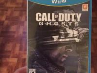 Call of Duty Ghost for WiiU.  Played once.  $25obo.  (.