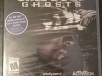 I am selling a Call of Duty: Ghosts videogame for the