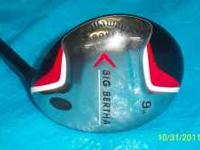 Callaway Big Bertha 9 Wood Excellent Condition Graphite