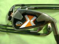 Slightly used set of Callaway X24 HOT iron set Right