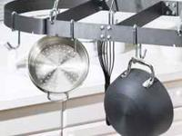 Calphalon pot rack oval 36x18 6 single hooks and 2