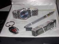 CALVIN HILL 4 PIECE WATCH GIFT SETS INCLUDES: WATCH,