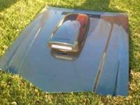 hood with Harwood hood scoop off a 1979 camaro. painted