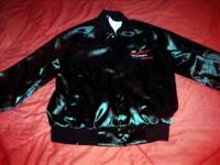 Camaro Jacket size Large , Satin Nylon white flannel
