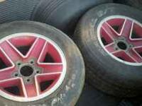 Set of four camaro red five spoke rims. $100 or best
