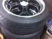 Brand new set if heilo wheels in 18 inch tires was on